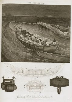 surfboat at sea, artist rendering