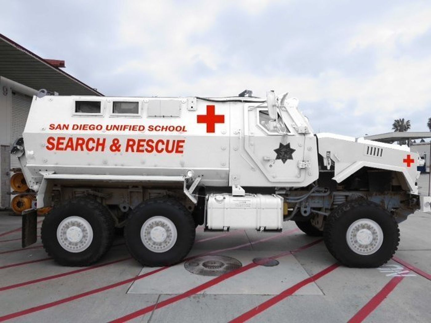 School district MRAP for gun protection