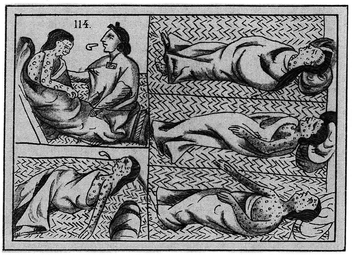 Aztec smallpox art