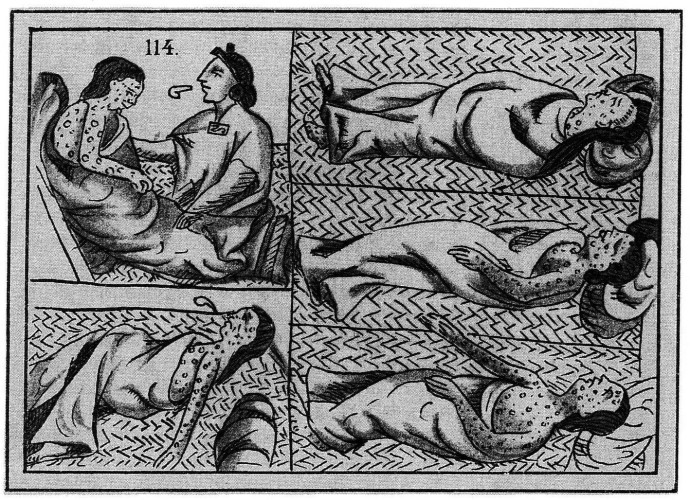 Aztec smallpox art